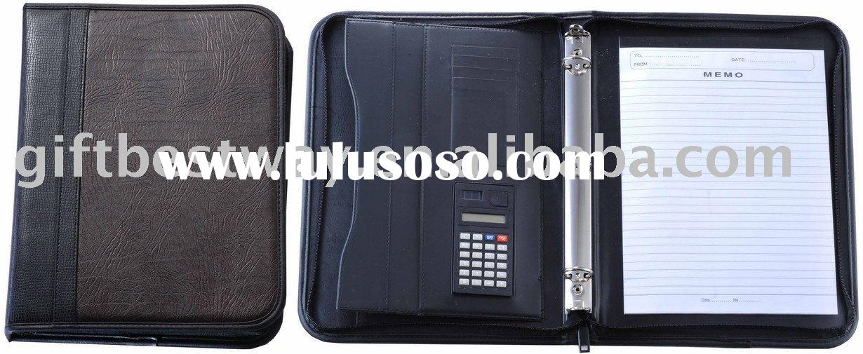 Genuine leather A4 Portfolio/Brief Case/file folder