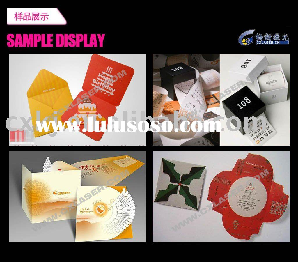 Greeting Card Cutting Machine/Laser Cutter