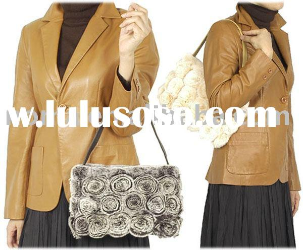 HG-8603 Rex Flower Handbag With Sheepskin Belt
