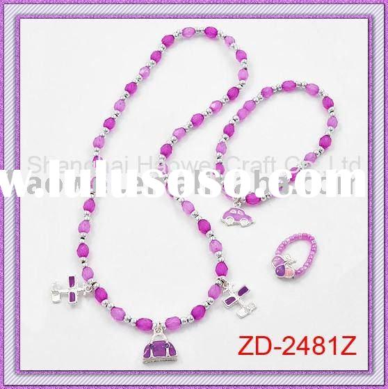 HOT ! ! ! ! ! Kids Jewelry set( 3 in 1, Necklace,Bracelet,Ring )