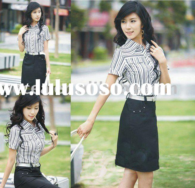 HOT sell ladies staff uniform/office uniform
