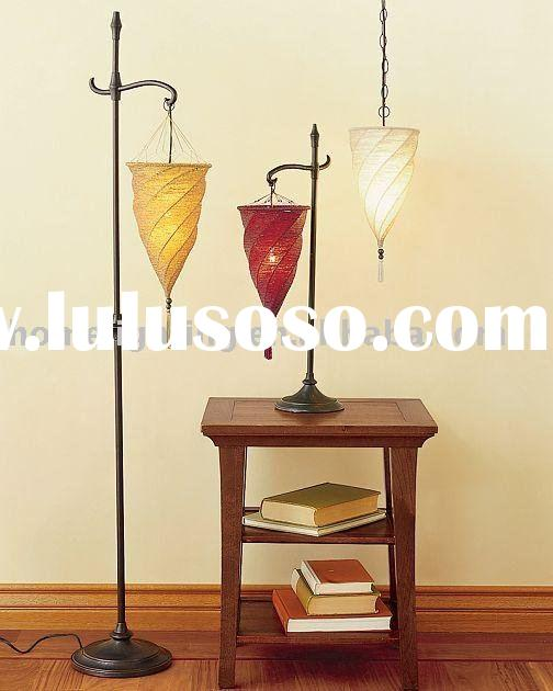 Vellum Lamp Shades: Hanging Fabric Shade Floor Lamp 5806ftp
