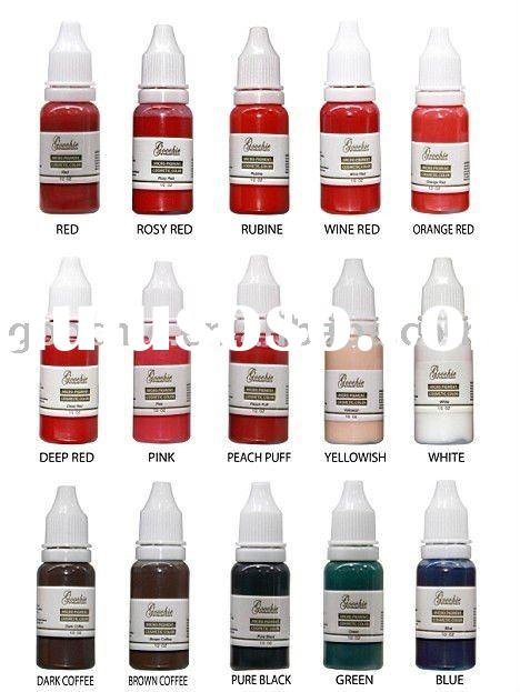 High Quality Tattoo Pigment Colors