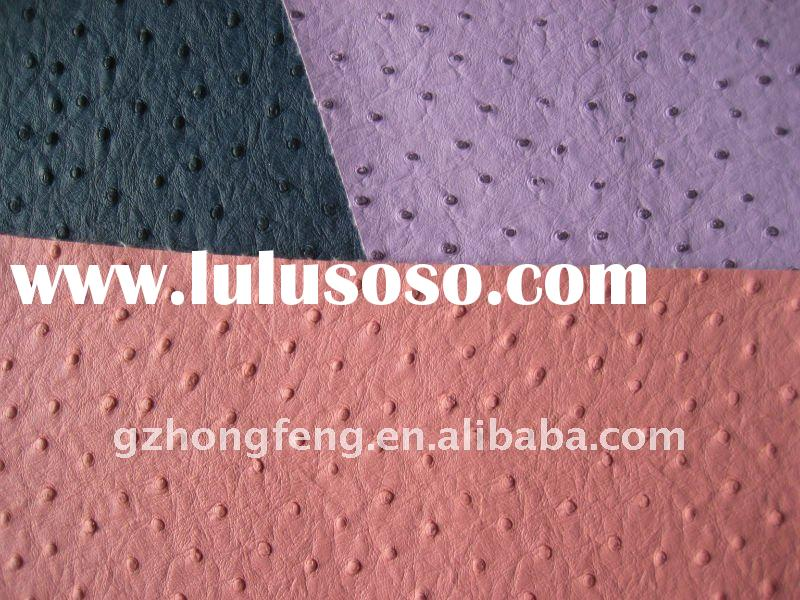 High quality PVC Ostrich Prints Embossed Leather for belt,Embossed PVC Leather
