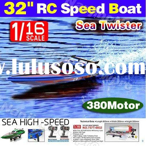 High speed ! 1:16 4 ch rc boat r/c racing boat remote control racing speed boat equipped with twin 3