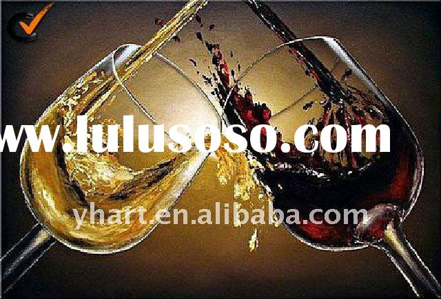 Hot Sell Handmade Modern Decorative Cavans Abstract Oil Painting Wine Bottle