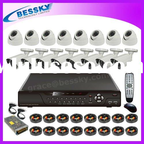IR Camera and 16CH H.264 CCTV DVR System