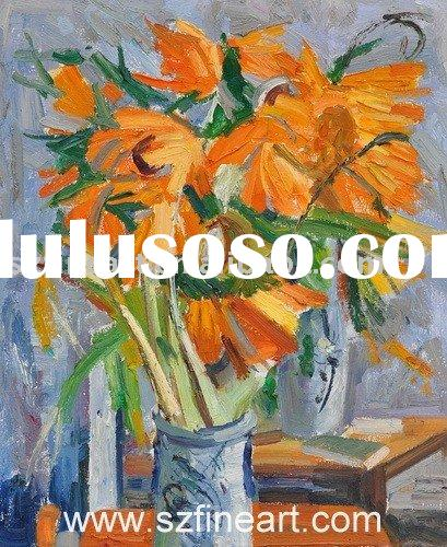 Impressionist Flower Oil Painting with nice color(New and Hot)