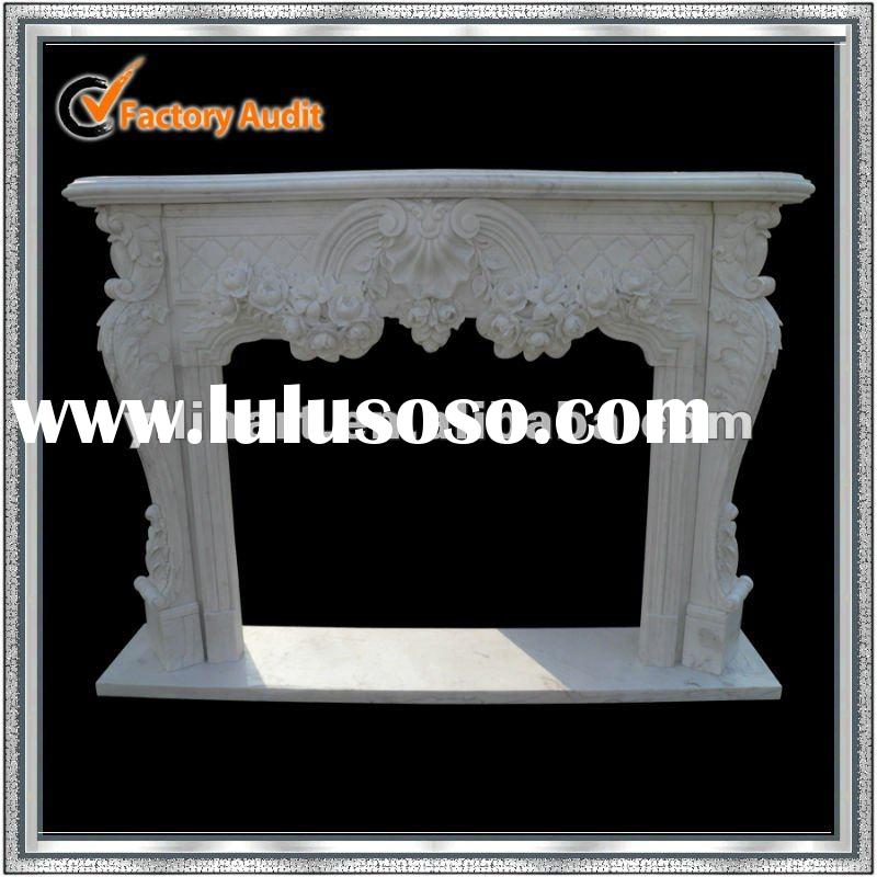Indoors marble stone fireplace mantel sculpture YL-B185