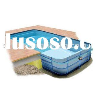 Inground fiberglass swimming pool