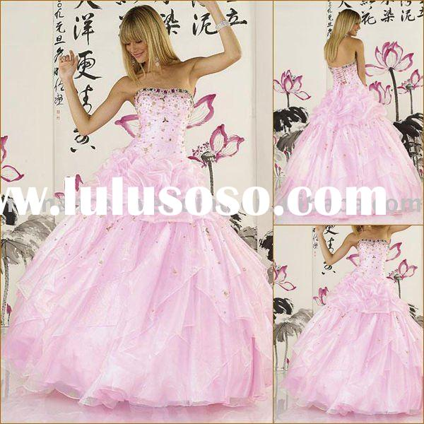 JC0326 Beaded Strapless Stack-up Ball Gown Prom Dress