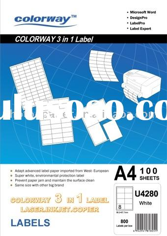 Label Paper /Self-adhesive sticker paper