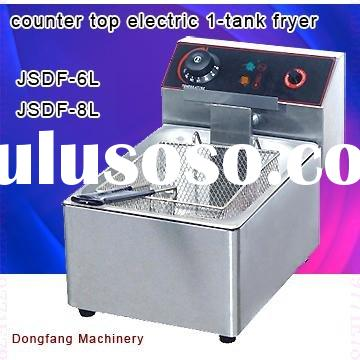 Latest design deep fryer machine DF-6L counter top electric 2 tank fryer(2 basket)