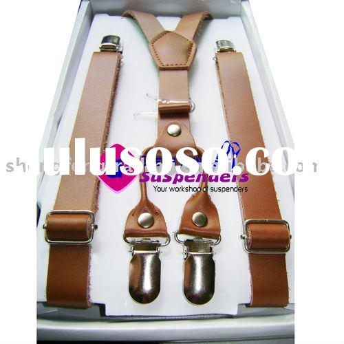 Leather Suspenders fashion suspenders trousers braces