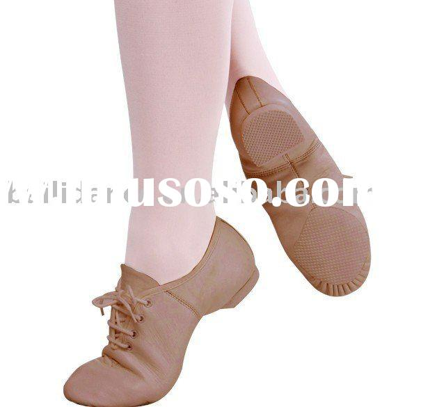 Fashion Womens Leather And Fabric Upper Jazz Dance Shoes More Colors Leather Upper Oxford Jazz