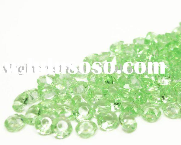 Lime Green Diamond Confetti Wedding Party Table Scatters
