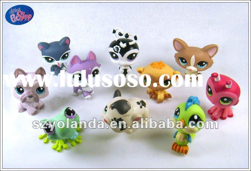 Littlest Pet Shop Lot LPS Girl Toy Animal Cat Dog Loose Figures Child Collection