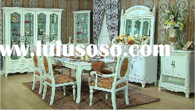 Luxury villa home furniture set | Solid wood villa dining room furniture B49123