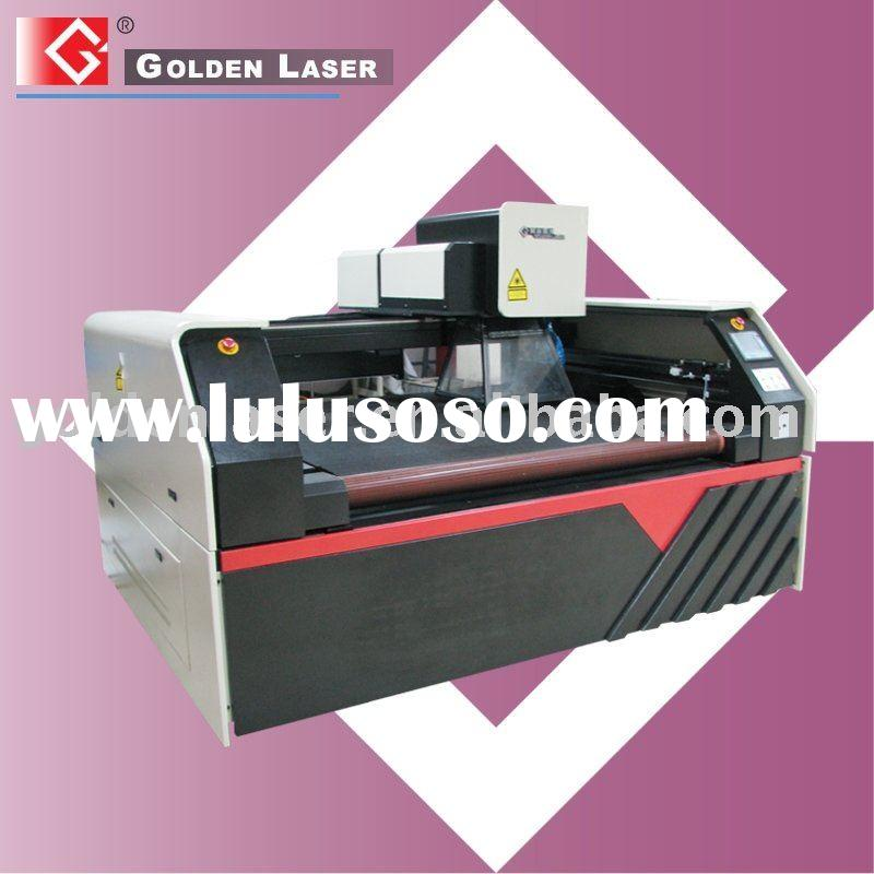 Machine for laser cutting and engraving on carpet
