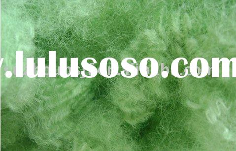 Manufacturer long-term supply offer high tenacity and BS-027 green Polyester Fiber size in 8D*51/102