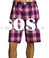 Men's yarn-dyed Check Shorts