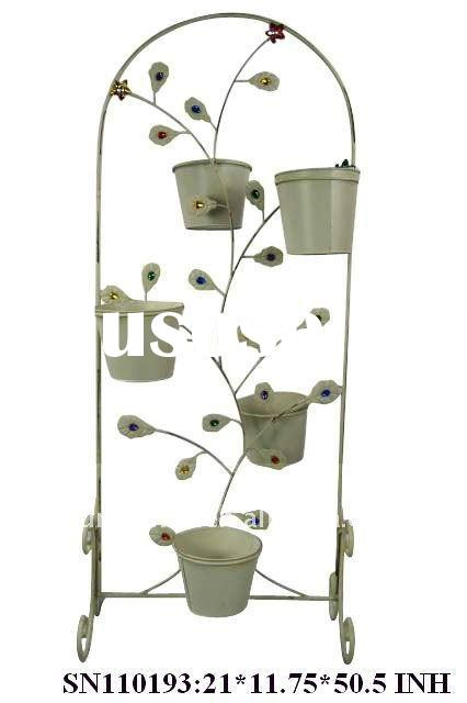Metal decorative flower pot stand