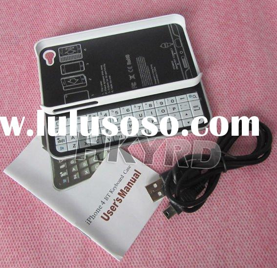 Mini Bluetooth Slide Sliding Keyboard&Hard Case for iphone 4G White