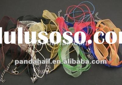 Mixed Color Organza Ribbon Necklace, Jewelry Ribbon(NFS048)
