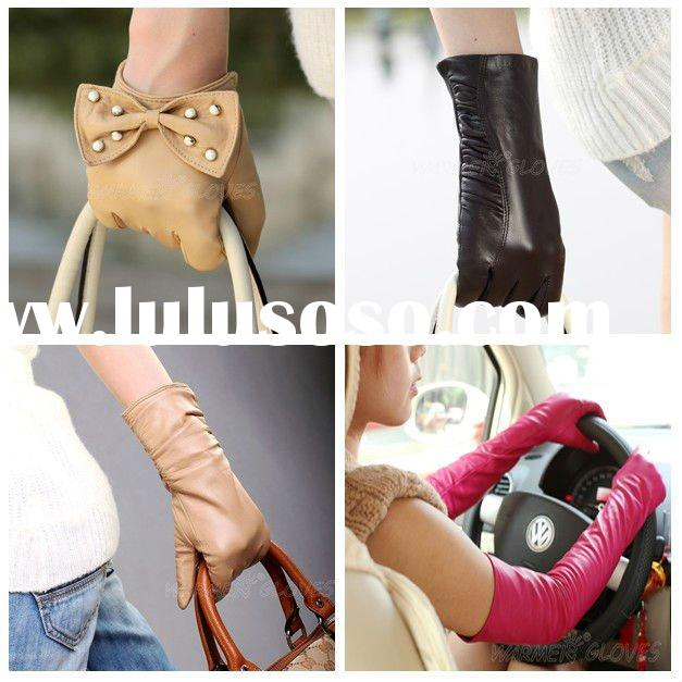 Mixed wholesale ladies leather hand gloves warm gloves
