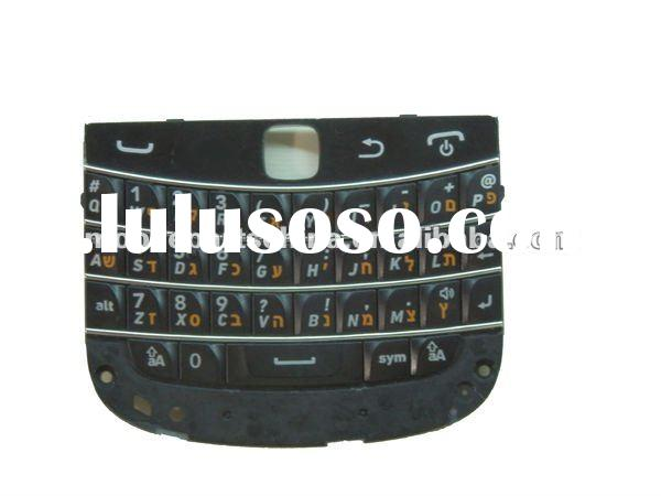 Mobile phone hebrew keypad for blackberry bold 9900 replacement parts OEM accepted