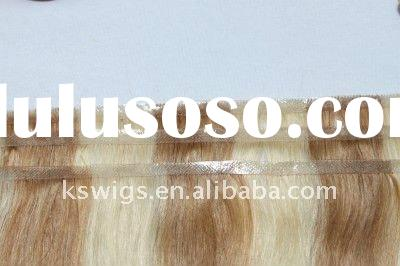 Most beautiful!!!~ Indian remy human hair glue in weft with PU tape