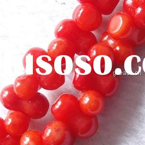 Natural red coral beads(dye) (NC0342)