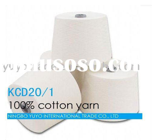 Ne 20s carded 100% cotton yarn from pakistan