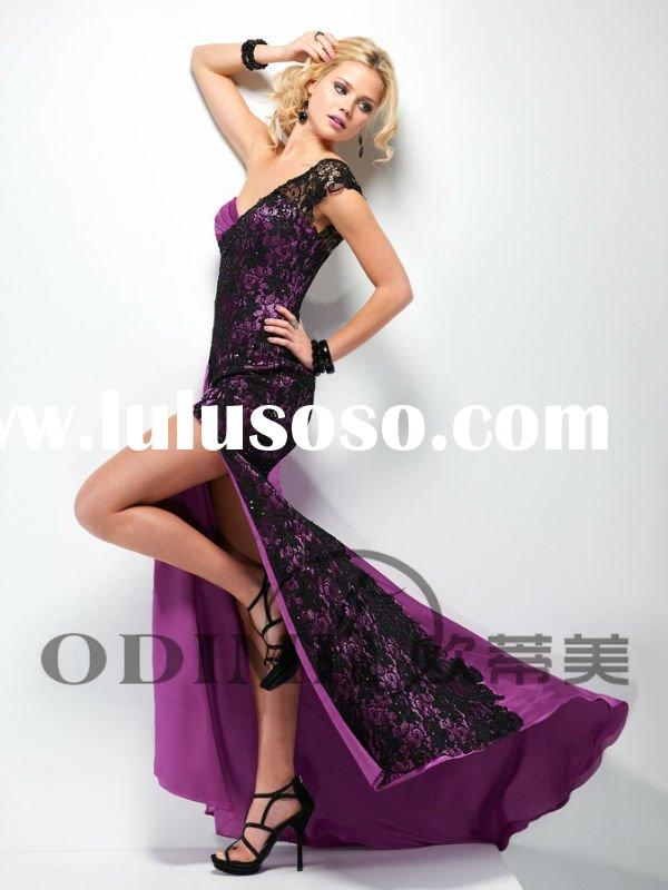 New Arrival One-shoulder Lace Prom Dress 2012