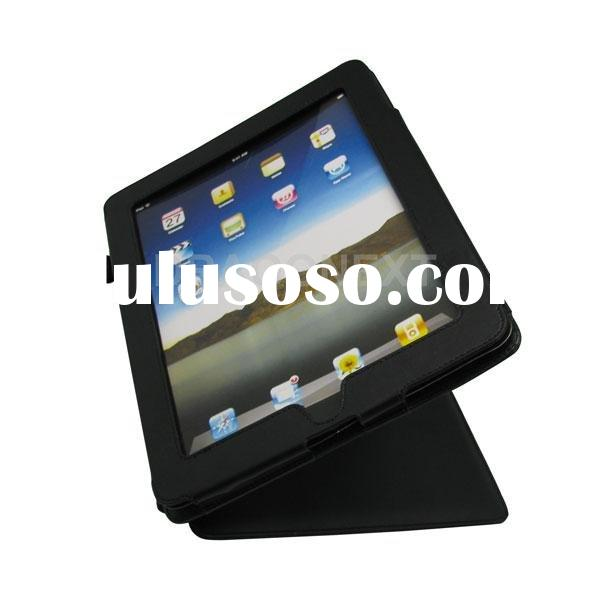 New Black Leather phone Case Flip For Apple iPad with Stand