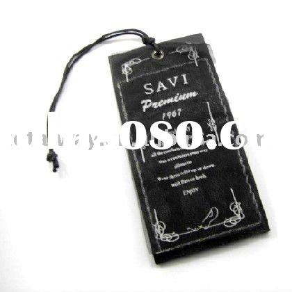 Newly fashion garment hang tags,leather PU hang tag,different design