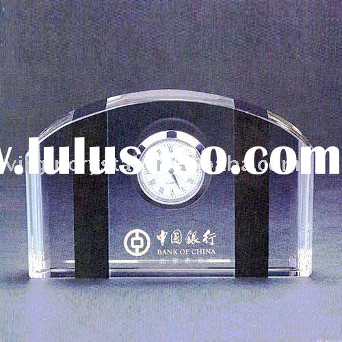 Nice crystal desk quartz clock award office gifts