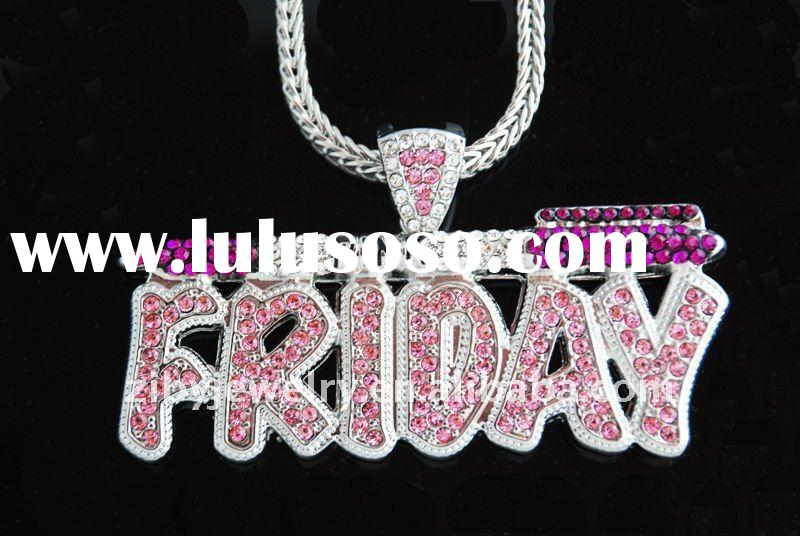 Nicki Minaj Pink Friday chain pendant necklace