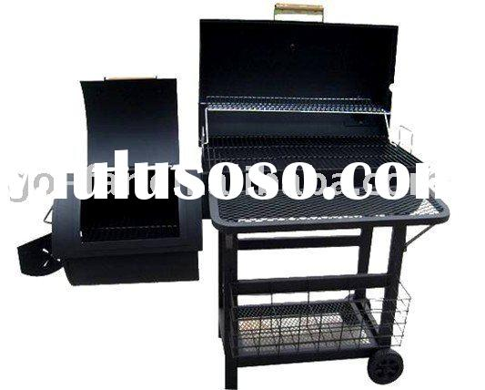 Offset Charcoal BBQ Grill and Smoker