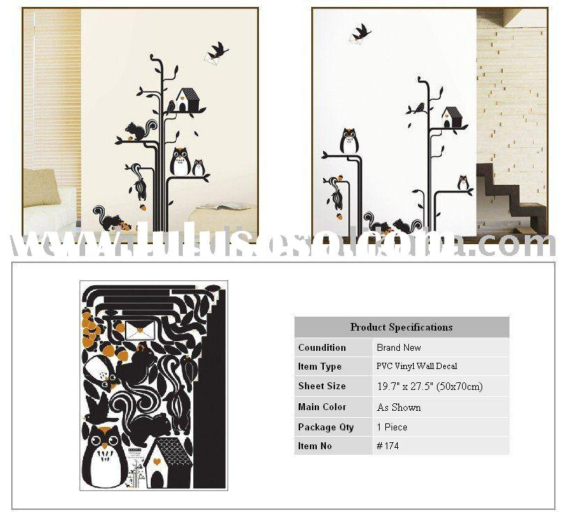 room with black and red sticker wall decor, room with black and ...