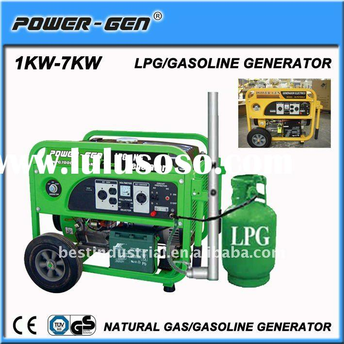 POWER-GEN Promotion! Hot-Sell Portable Natural Gas Generator 1kw to 7kw