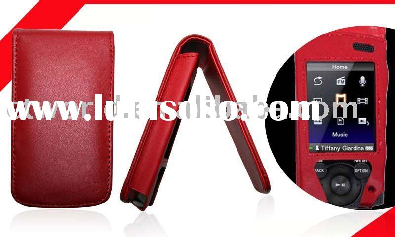 PU Leather case for MP3/MP4 player sony new S544