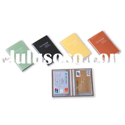 PVC Bank Card Holder with Multiple Inside Clear PVC Pocket