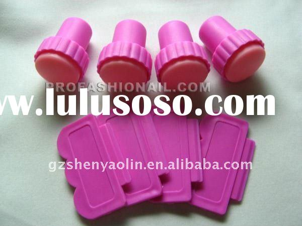 Pink Scraping Knife + Nail Art Stamp Stamping Tools Set nail printing NA116