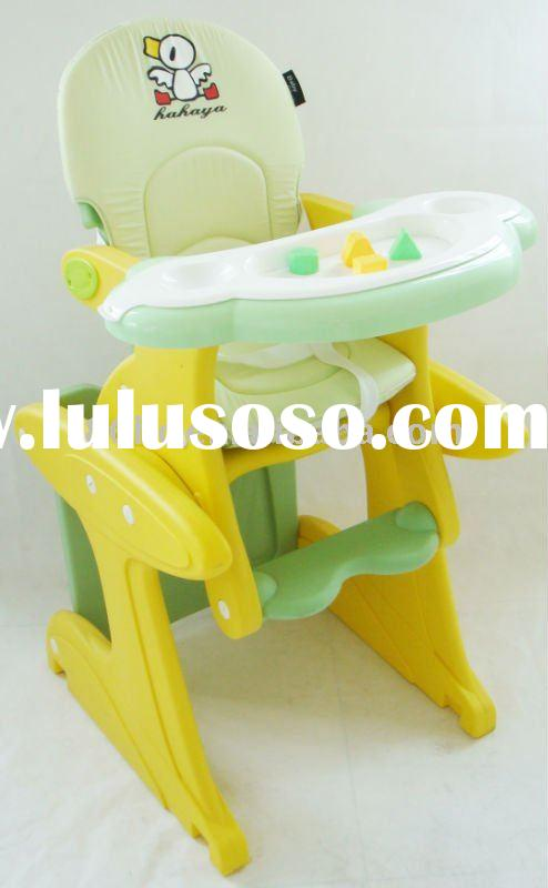Plastic Baby High Chair,cheap baby chair,with double dinner plate.