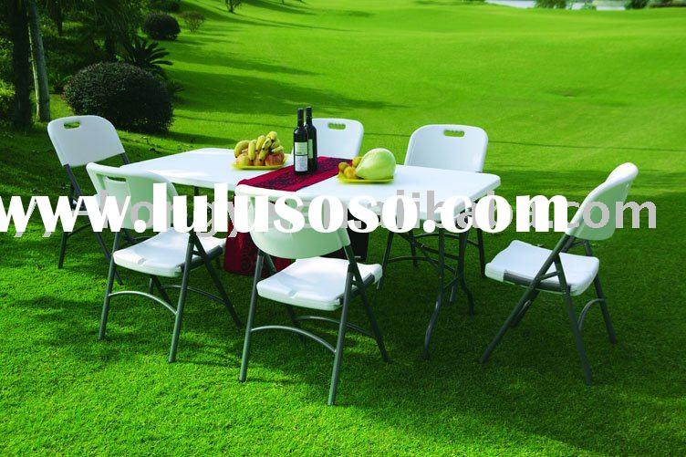 Plastic Folding Table Set(blow mould,hdpe,white,outdoor)