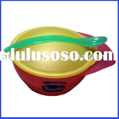 Plastic bowl with handle