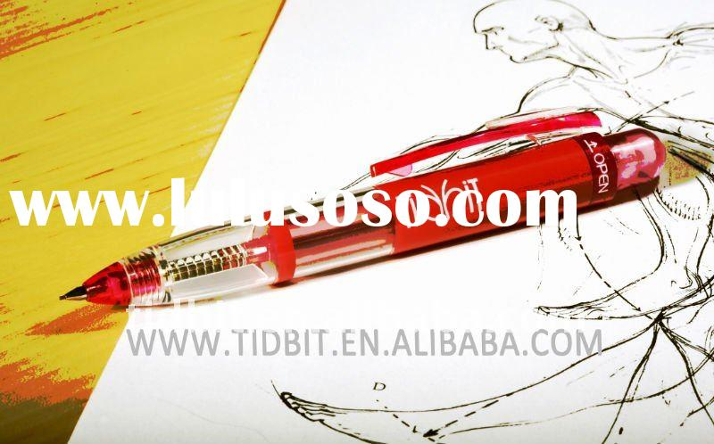 Plastic mechanical pencil 0.5mm with eraser on top