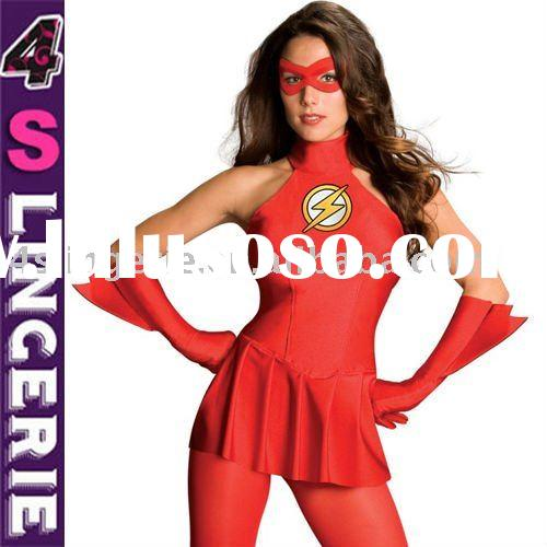 Plus size the flash girl costume with face mark 4slingerie guangzhou