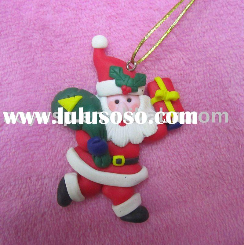 Polymer clay new and cheap christmas decoration